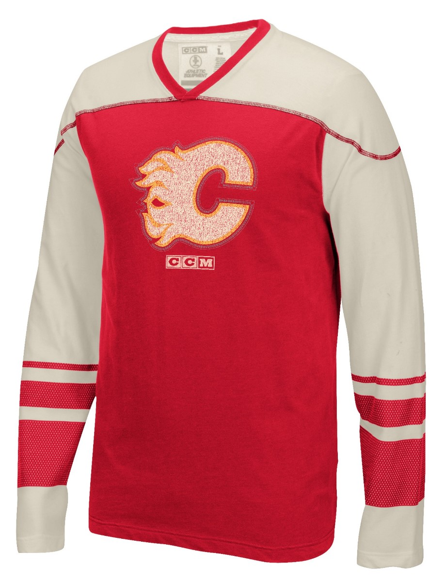 "Calgary Flames CCM NHL ""Better Days"" Men's Long Sleeve Crew Shirt"