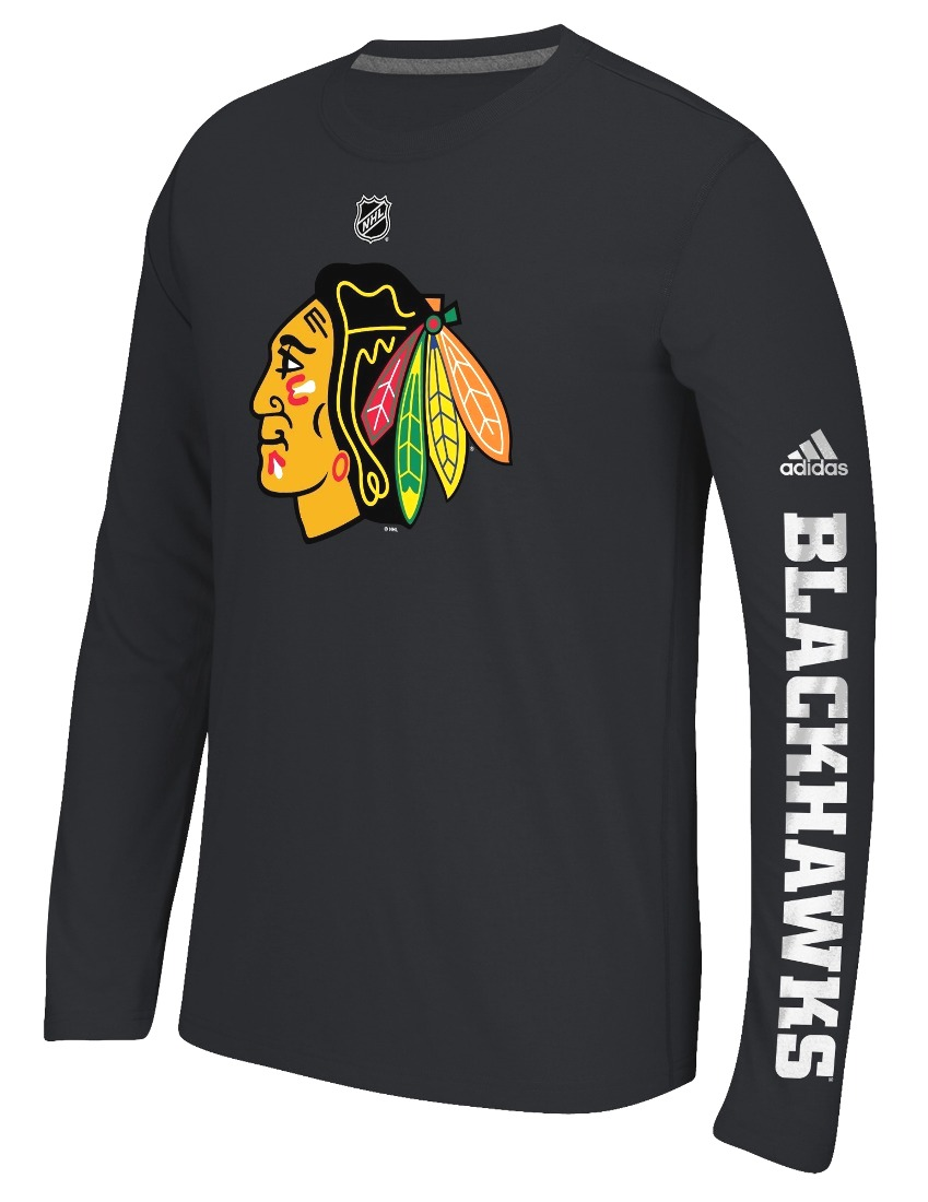 "Chicago Blackhawks Adidas NHL ""Journeyman"" Climalite Performance L/S Shirt"