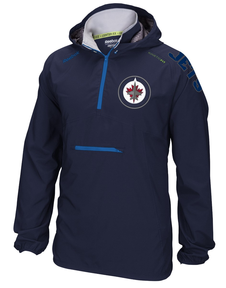 "Winnipeg Jets Reebok NHL 2016 Center Ice ""Anorak"" Kinetic 1/4 Zip Jacket"