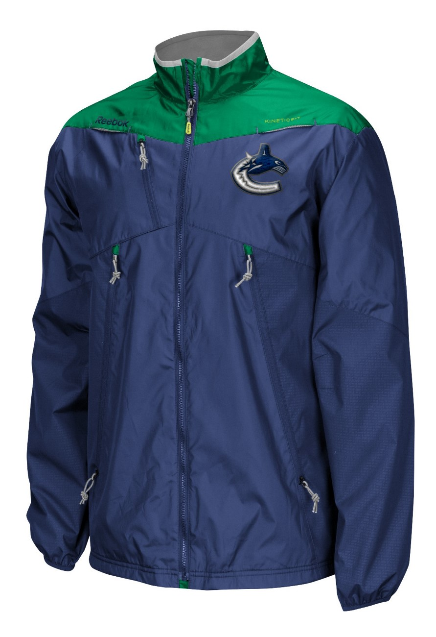 Vancouver Canucks Reebok NHL 2016 Center Ice Kinetic Rink Full Zip Jacket