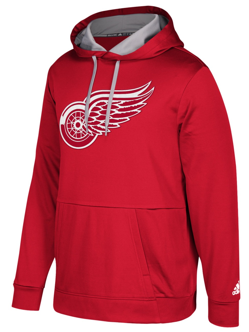 "Detroit Red Wings Adidas NHL Men's ""Checking"" Pullover Hooded Sweatshirt"