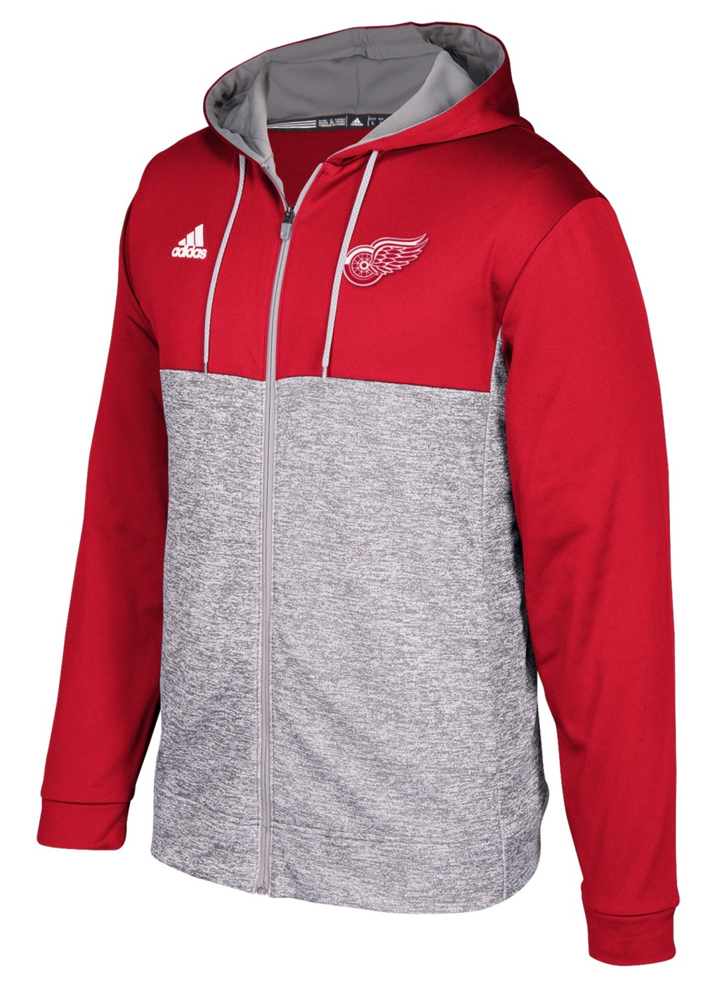 "Detroit Red Wings Adidas NHL Men's ""Blocking"" Full Zip Hooded Sweatshirt"
