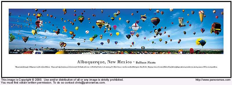 Albuquerque, NM Balloons 13.5x40 Panoramic Photo