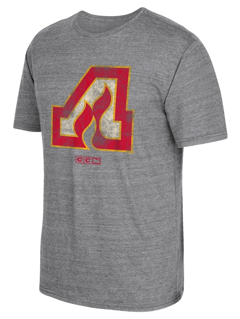 "Atlanta Flames CCM ""Heritage Logo"" Distressed Premium Tri-Blend T-Shirt"