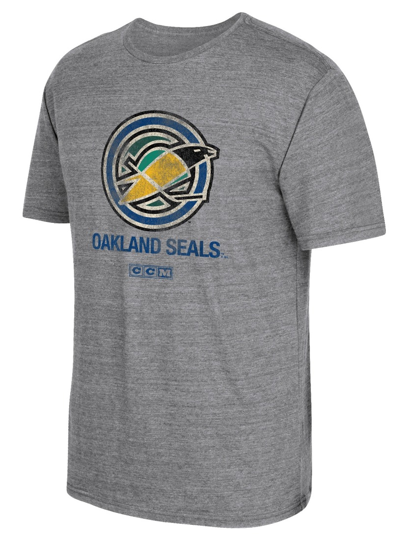"California Golden Seals CCM ""Heritage Alternate"" Distressed Tri-Blend T-Shirt"