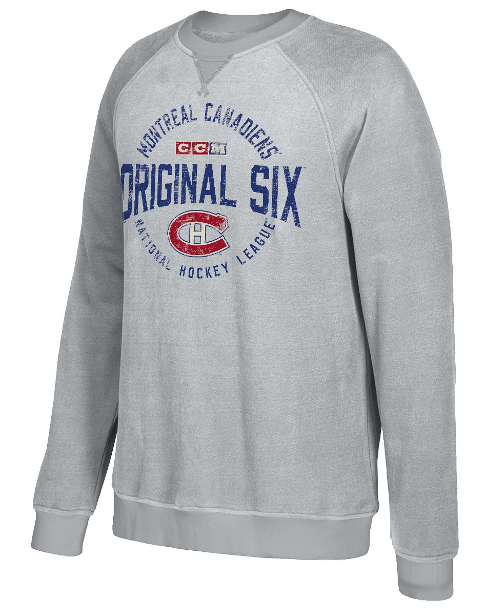 "Montreal Canadiens CCM NHL Men's ""Classic Six"" Crew Fleece Sweatshirt"