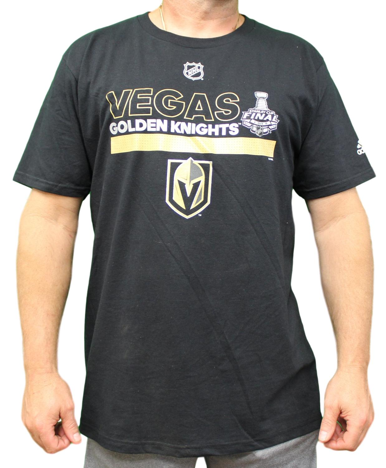Las Vegas Golden Knights Adidas NHL Stanley Cup Finals Men's Black T-Shirt