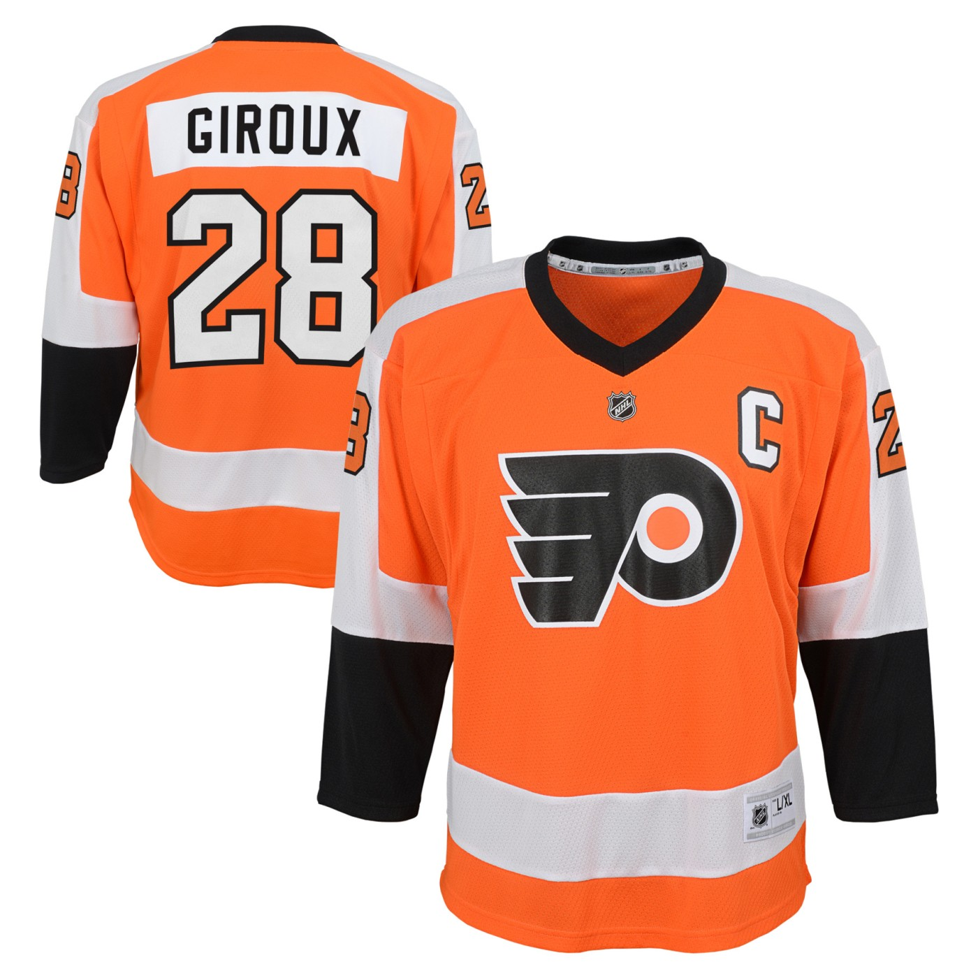 Claude Giroux Philadelphia Flyers Youth NHL Orange Replica Hockey Jersey