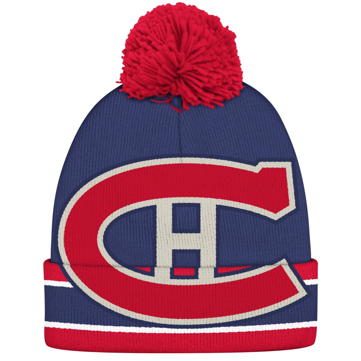 "Montreal Canadiens CCM NHL ""Split Logo"" Cuffed Knit Hat with Pom"