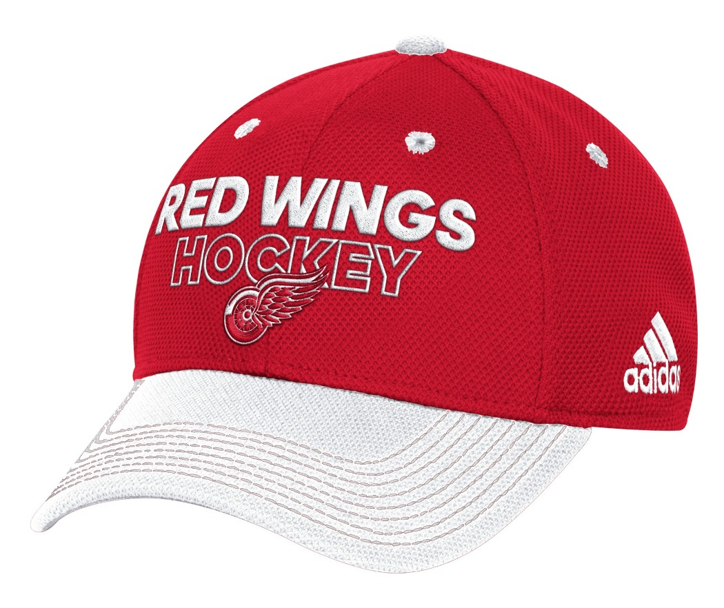 Detroit Red Wings Adidas NHL Authentic Locker Room Structured Flex Hat