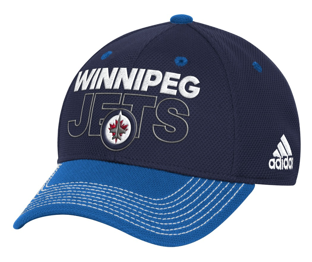 Winnipeg Jets Adidas NHL Authentic Locker Room Structured Flex Hat