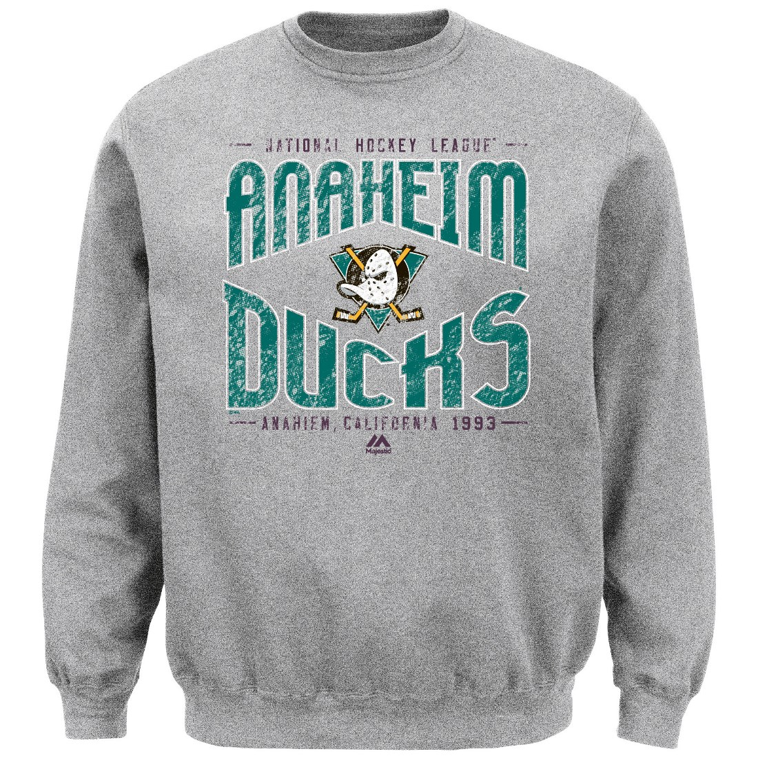 "Anaheim Ducks Majestic NHL ""Classic Ice"" Men's Pullover Crew Sweatshirt"
