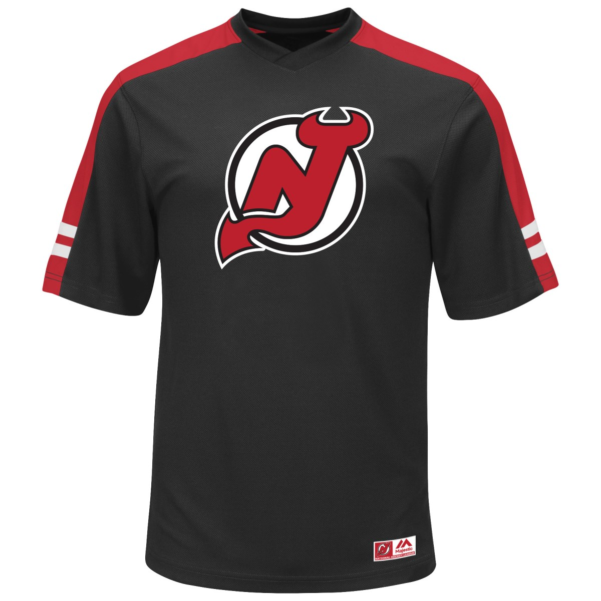 "New Jersey Devils Majestic NHL ""Quick Play"" Cool Base V-Neck Shirt"