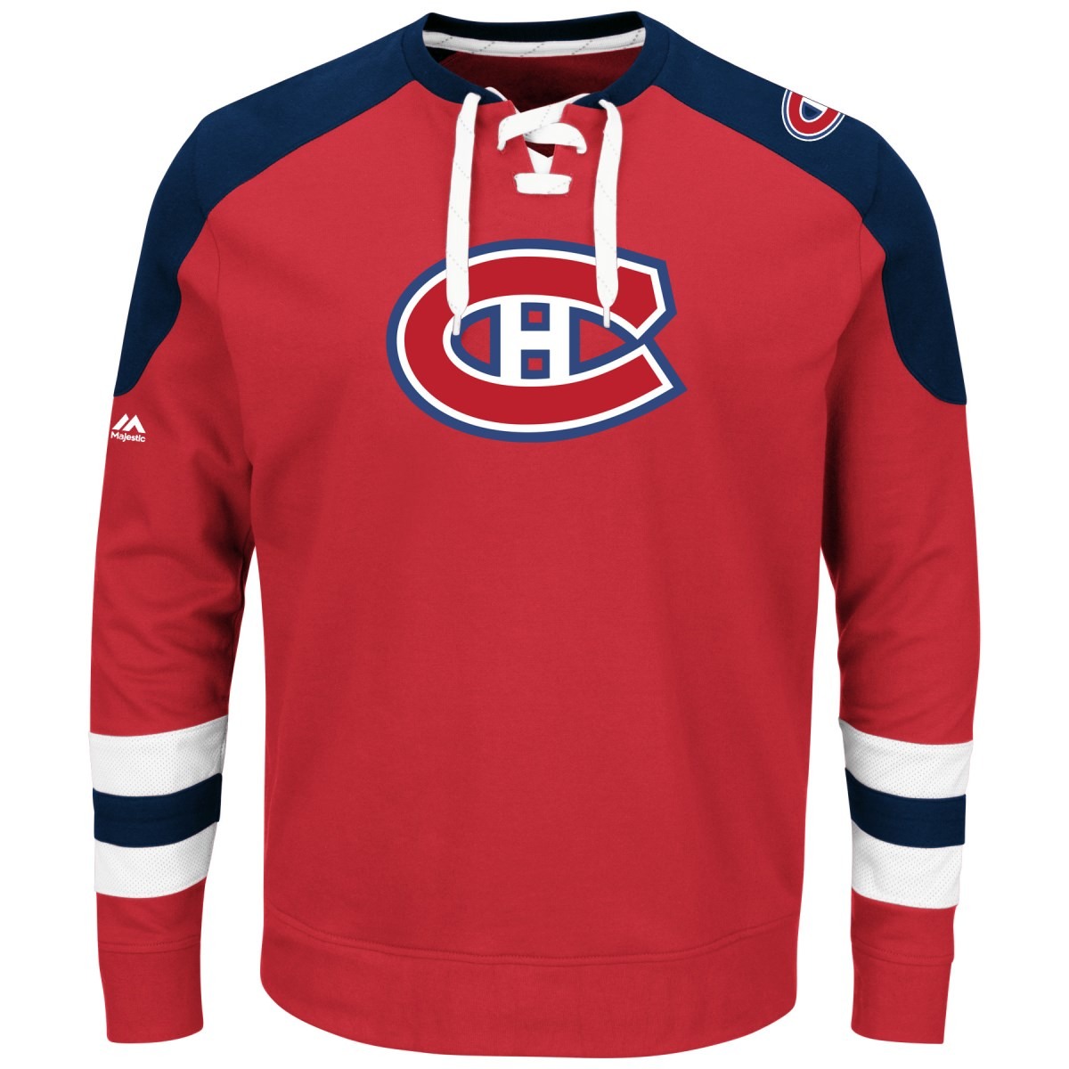 "Montreal Canadiens Majestic NHL ""Centre"" Men's Pullover Crew Sweatshirt"