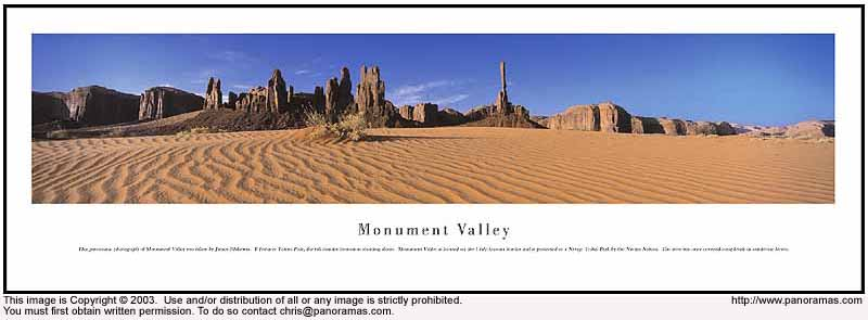 Monument Valley 13.5x40 Panoramic Photo