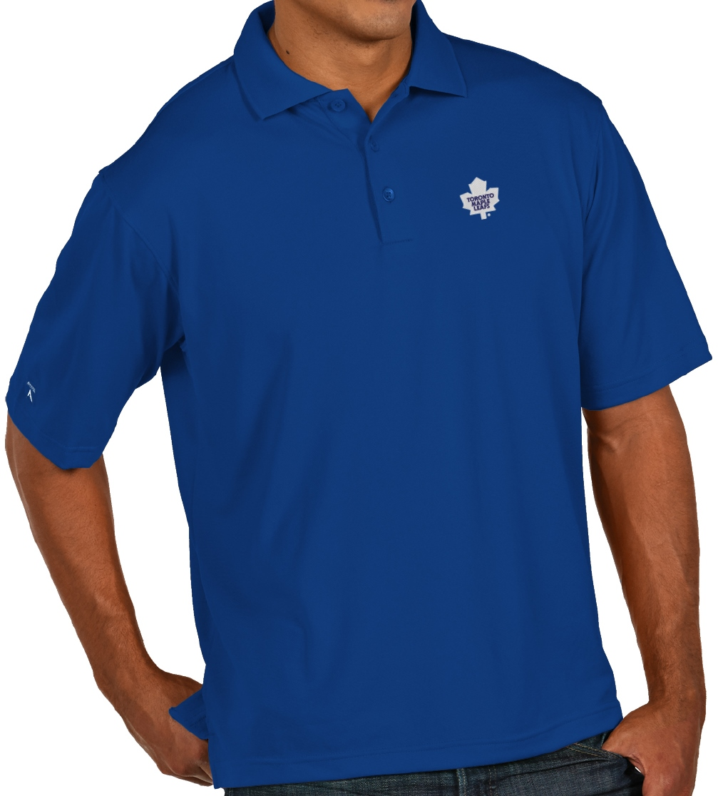 "Toronto Maple Leafs Antiqua NHL ""Pique"" Performance Polo Shirt - Blue"