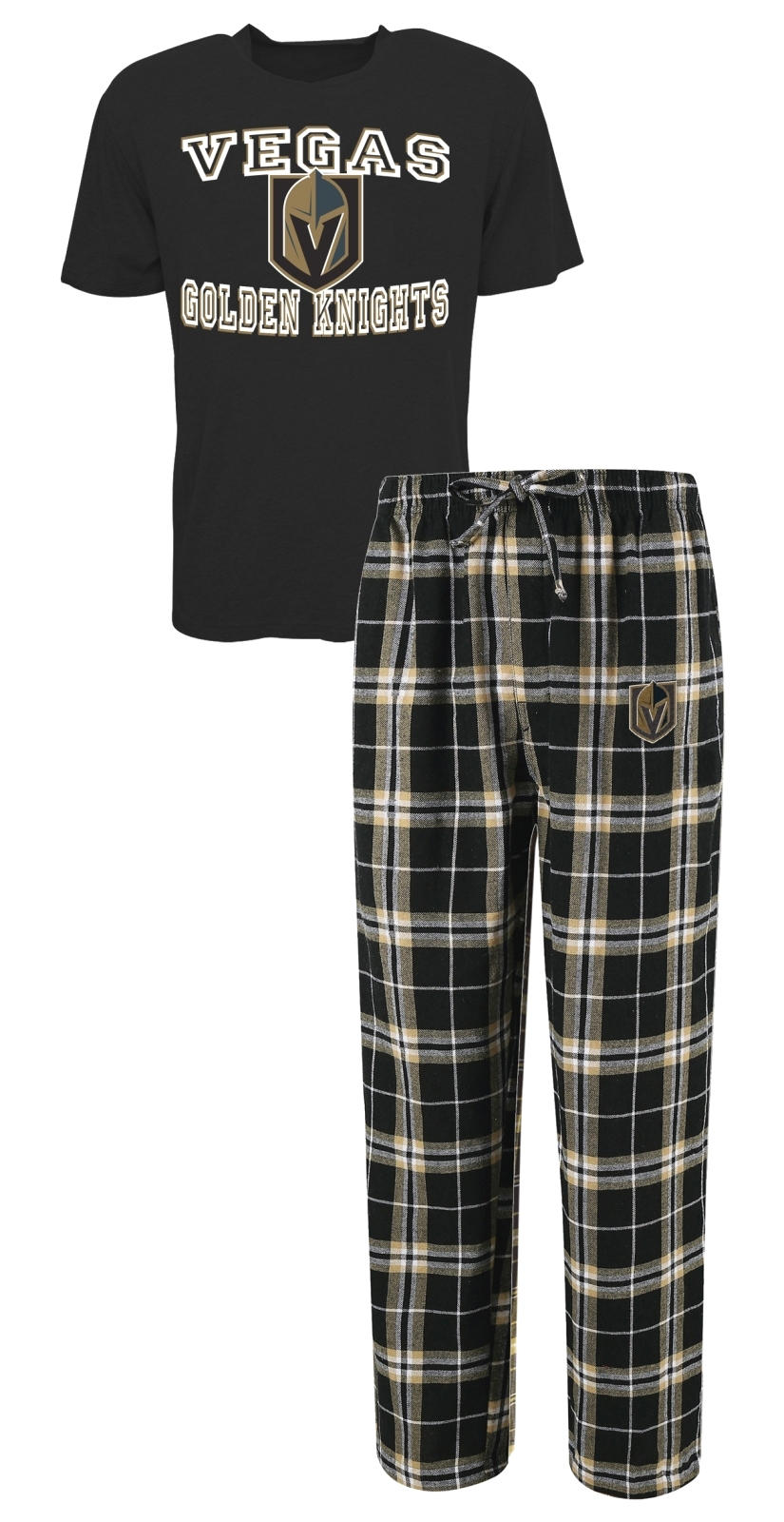 "Las Vegas Golden Knights NHL ""Great Duo"" Men's T-shirt & Flannel Pants Sleep Set"