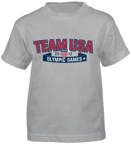 "Team USA Olympic Games ""Star Crest"" Grey T-shirt"