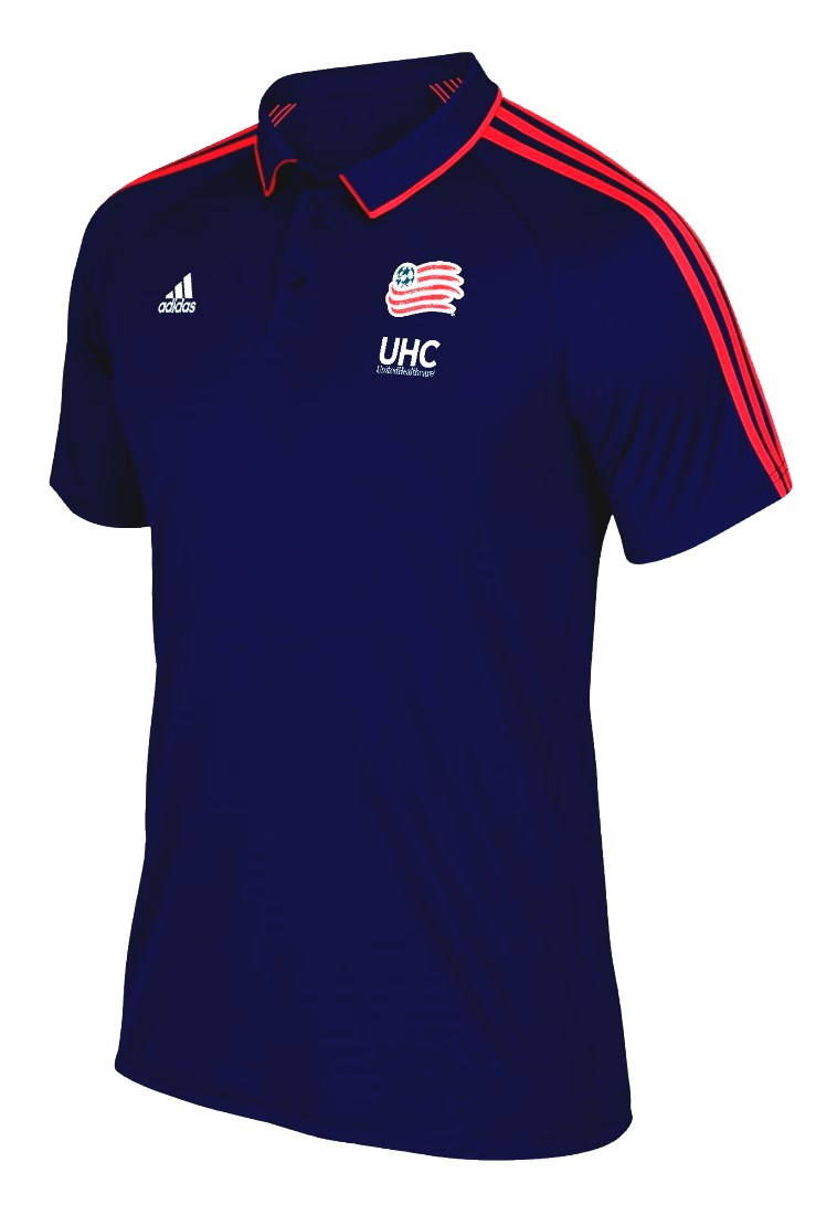 size 40 9d67f 88d6d New England Revolution Adidas MLS Men s On-Field Coaches Climalite Polo  Shirt