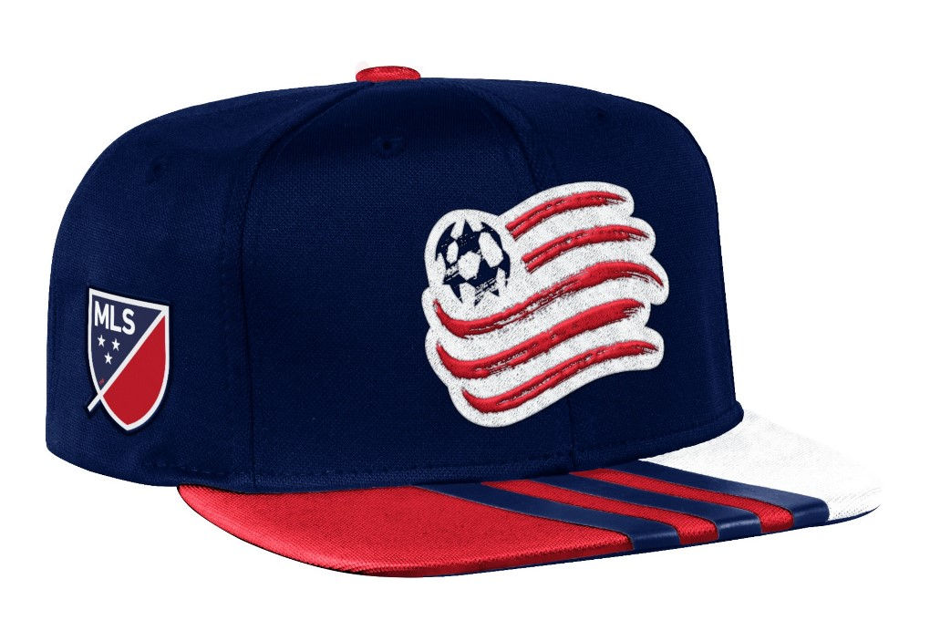 size 40 732bd 99b6d New England Revolution Adidas MLS 2017 Authentic Team Performance Snap Back  Hat