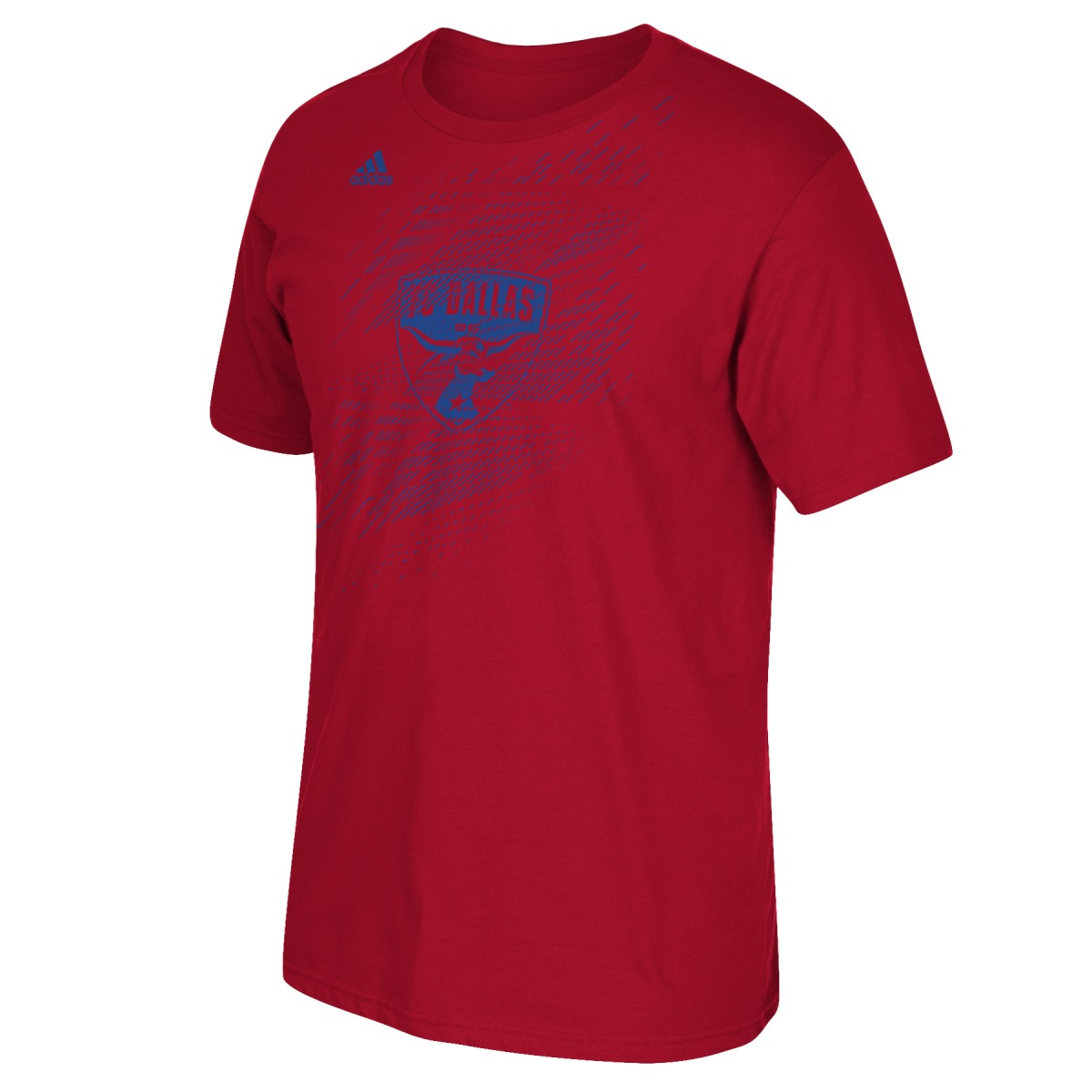 "FC Dallas Adidas MLS ""White Noise"" Short Sleeve Men's T-Shirt"