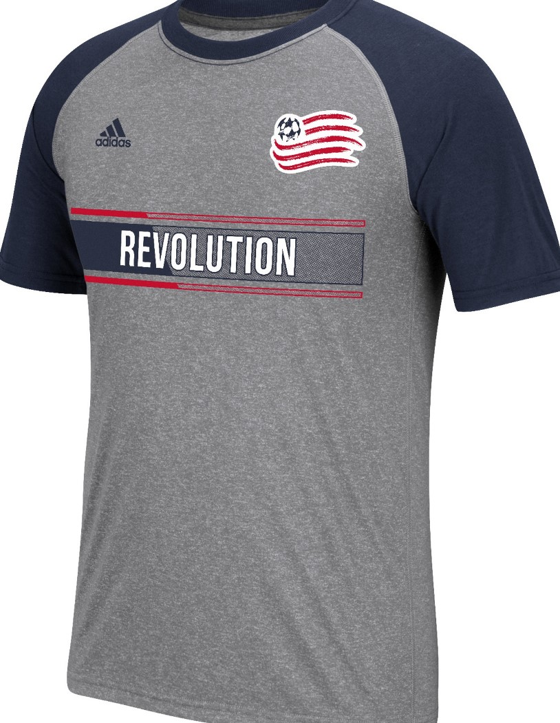 "New England Revolution Adidas MLS ""Midfielder"" Men's Climalite S/S T-Shirt"
