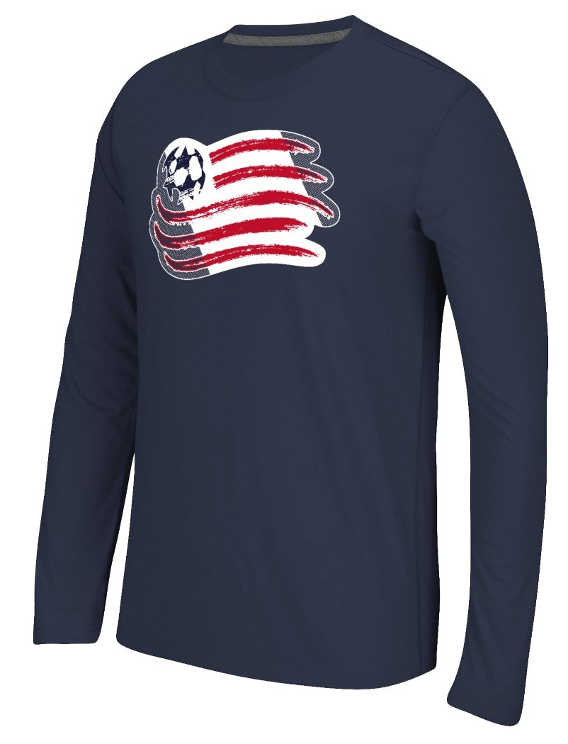 "New England Revolution Adidas MLS ""Fullback"" Men's Climalite Long Sleeve T-Shirt"