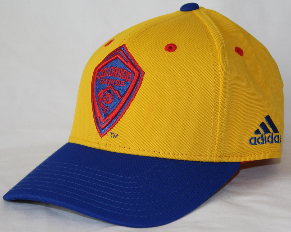 "Colorado Rapids Adidas MLS ""Jersey Hooks"" Team Structured Adjustable Hat"