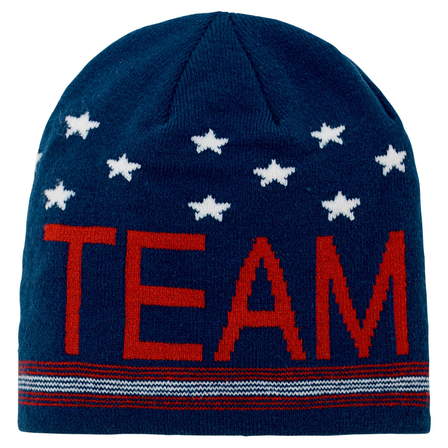 "Team USA Olympic Games ""Scripto"" Cuffless Knit Hat"