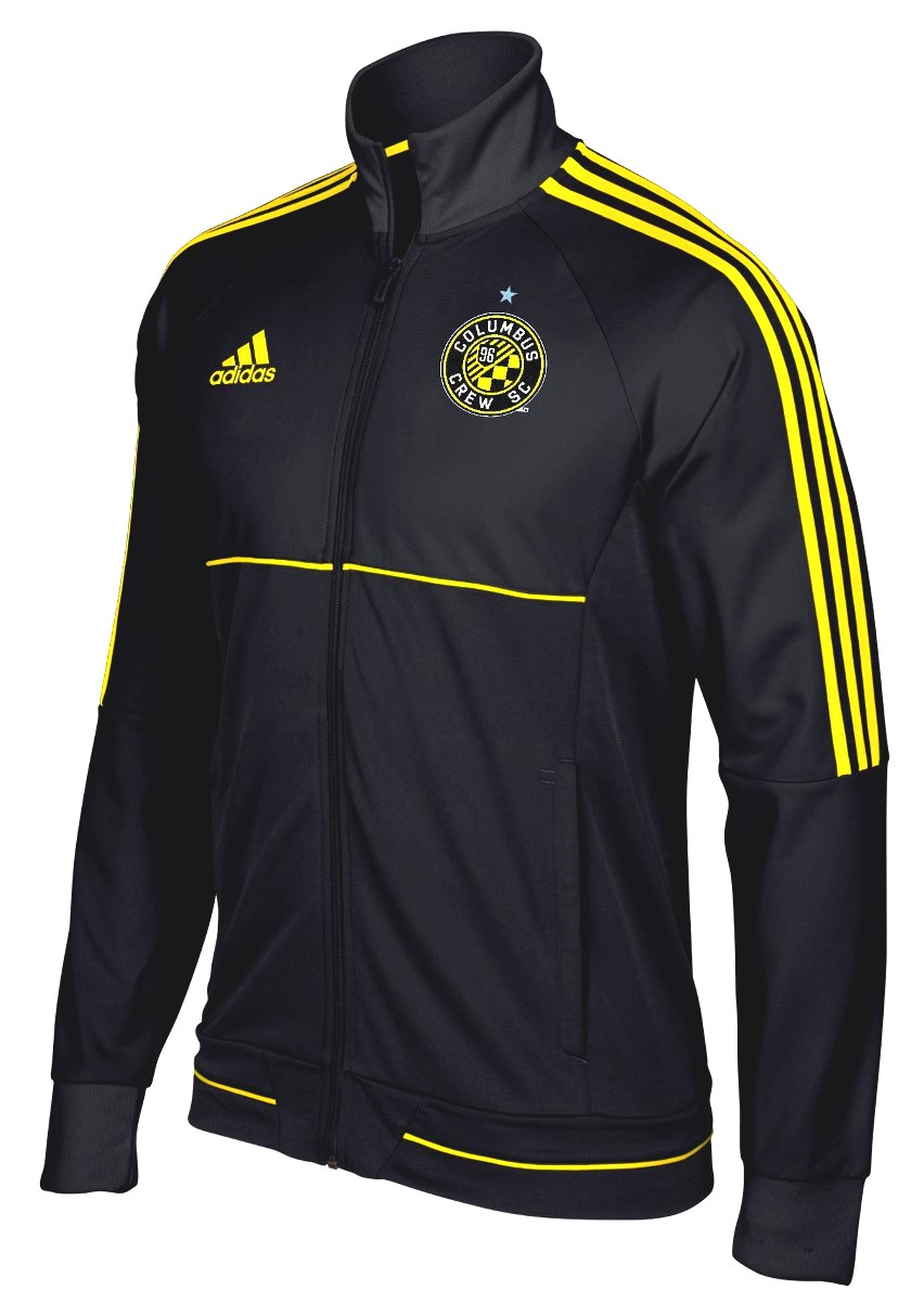 "Columbus Crew Adidas Men's MLS 2017 ""Anthem"" Sideline Full Zip Jacket"