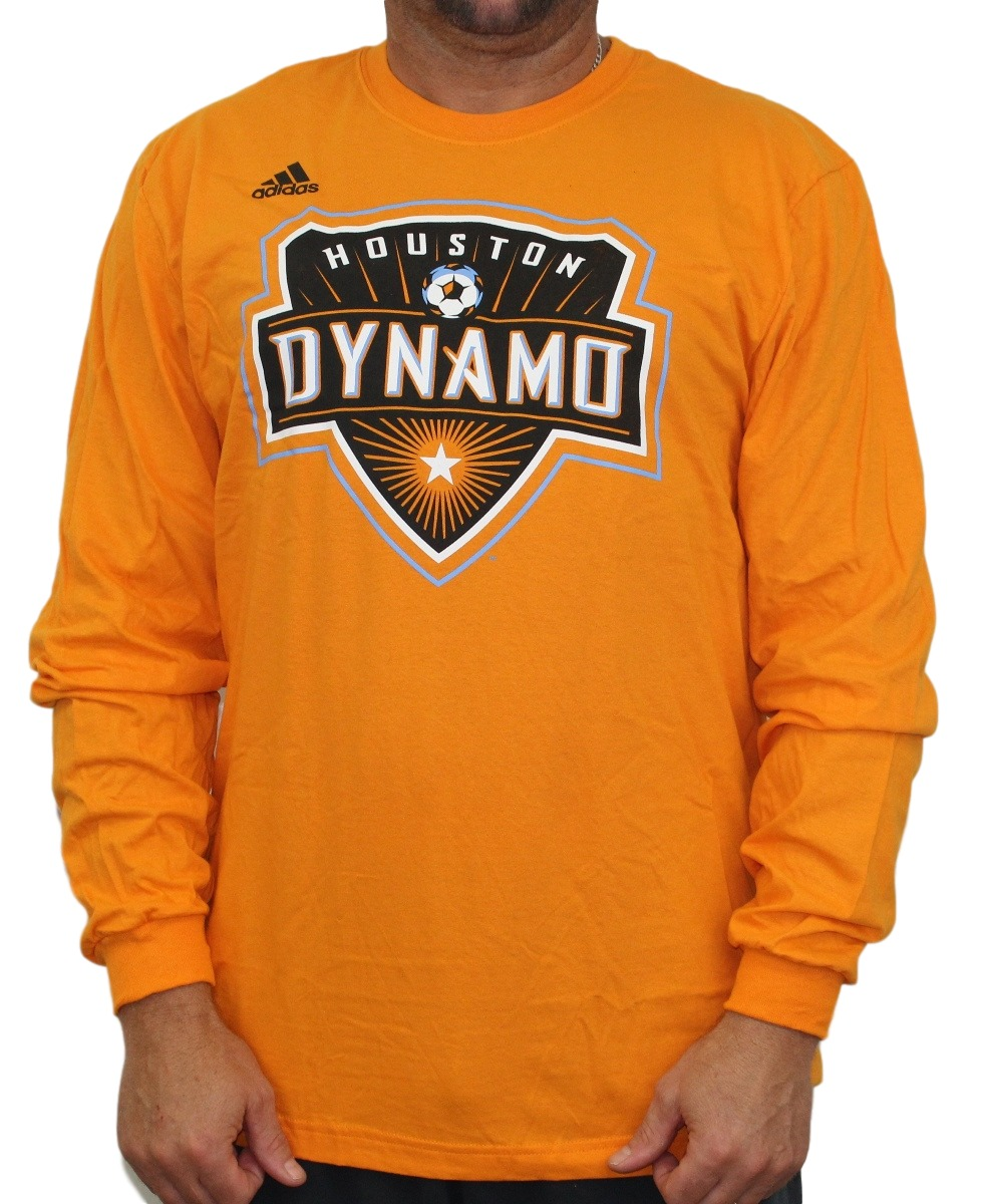 "Houston Dynamo Adidas MLS ""Logo Set"" Men's Long Sleeve T-Shirt"