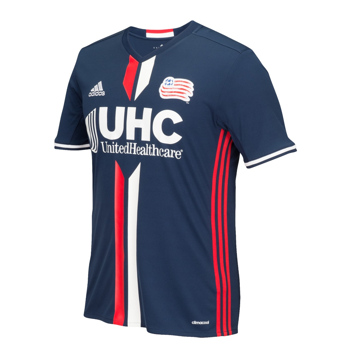 New England Revolution Adidas MLS Climalite Men's On-Field Replica S/S Jersey