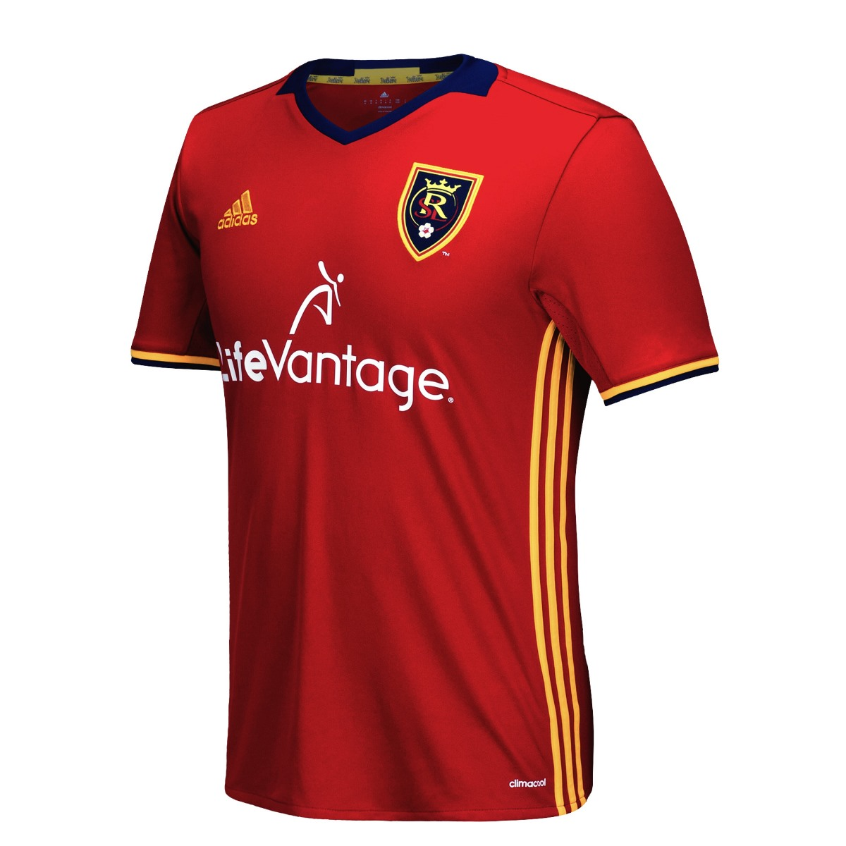Real Salt Lake Adidas MLS Climalite Men's On-Field Replica Short Sleeve Jersey