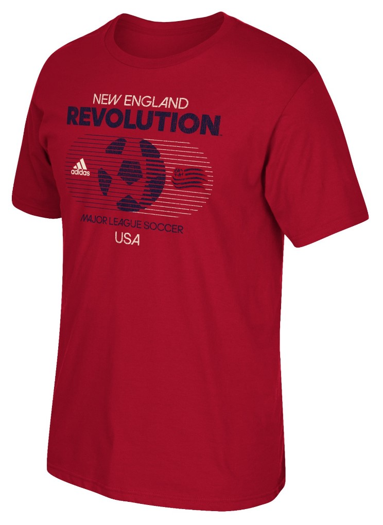 "New England Revolution Adidas MLS ""Soccer World"" Tri-Blend Men's S/S T-Shirt"