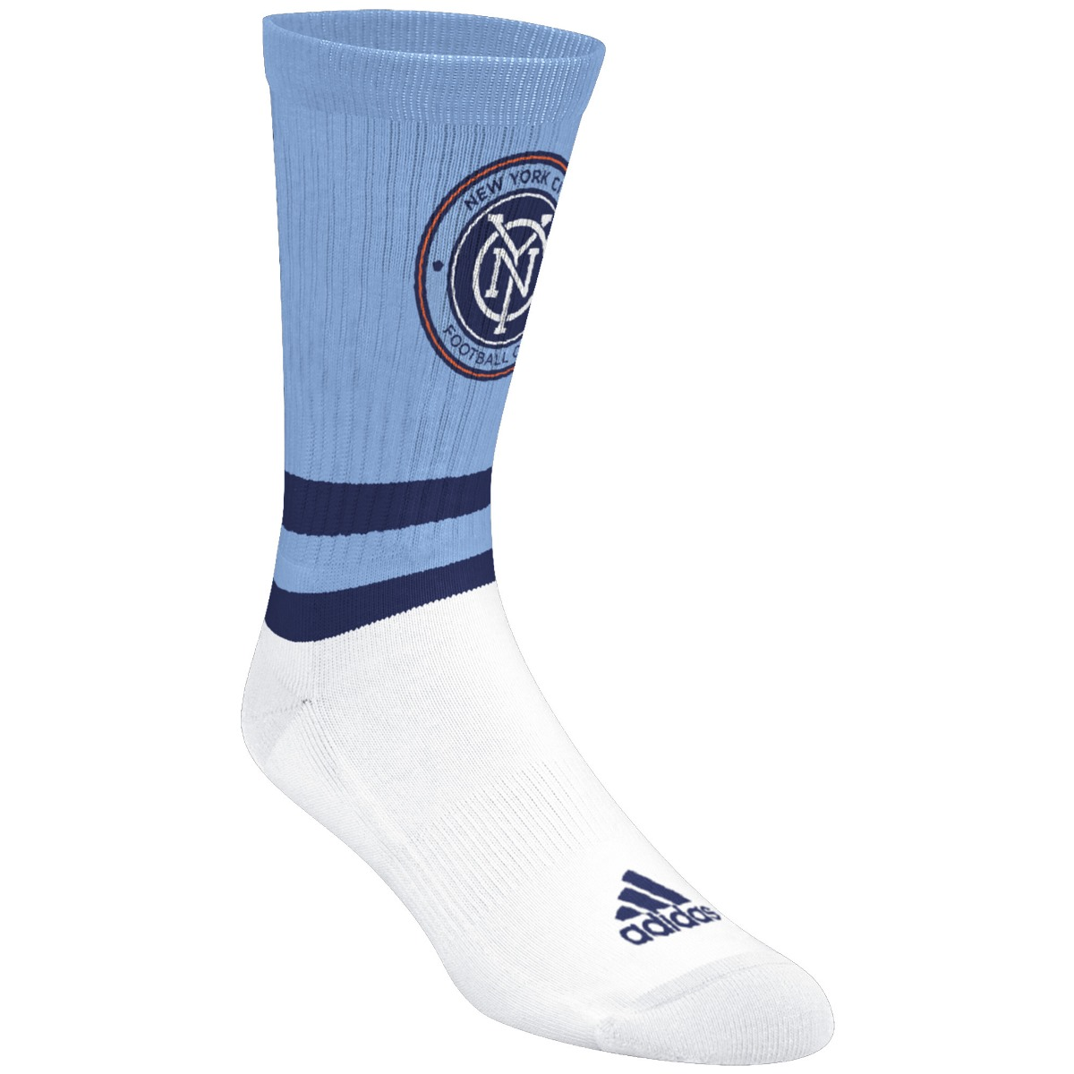 "New York City FC Adidas MLS ""Team Logo on Color"" Jacquard Men's Crew Socks"