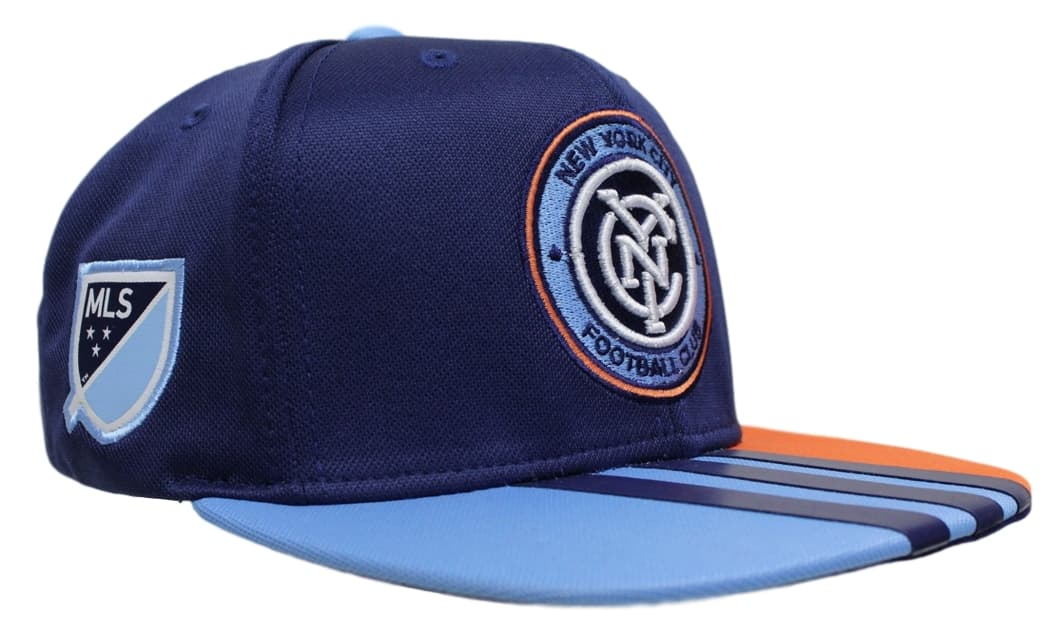 New York City FC Adidas MLS 2017 Authentic Team Performance Snap Back Hat