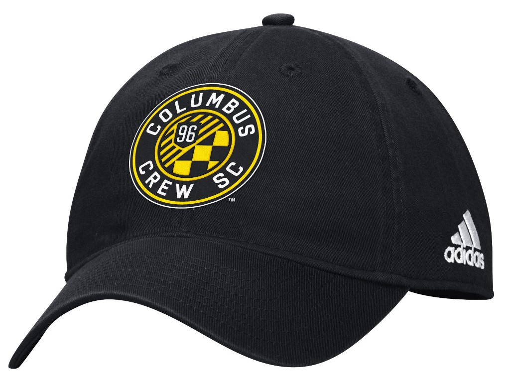 "Columbus Crew Adidas MLS ""Team Basics"" Slouch Adjustable Hat - Black"