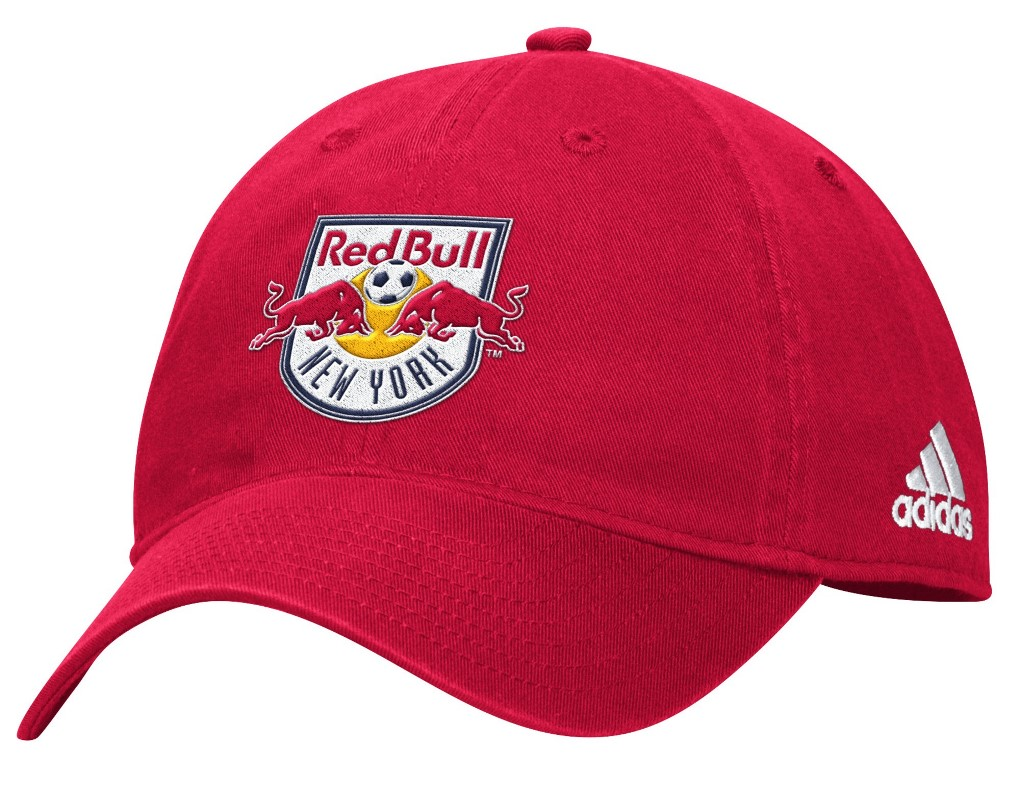 "New York Red Bulls Adidas MLS ""Team Basics"" Slouch Adjustable Hat - Red"