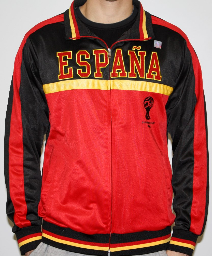 Spain Espana FIFA 2014 World Cup Soccer Embroidered Track Jacket