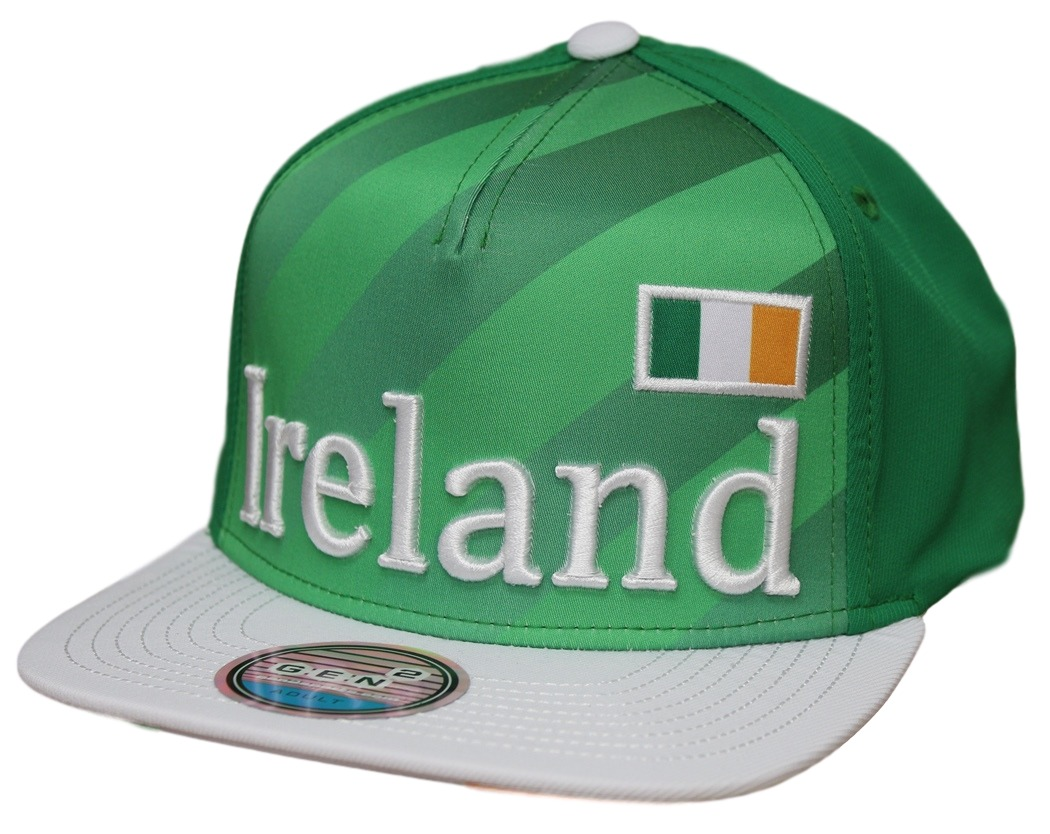 "Team Ireland World Cup Soccer Federation ""Jersey"" Flat Bill Snap Back Hat"