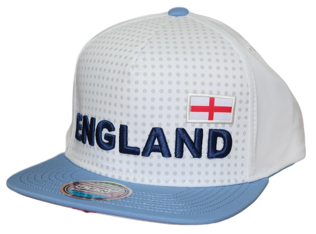 "Team England World Cup Soccer Federation ""Jersey"" Flat Bill Snap Back Hat"