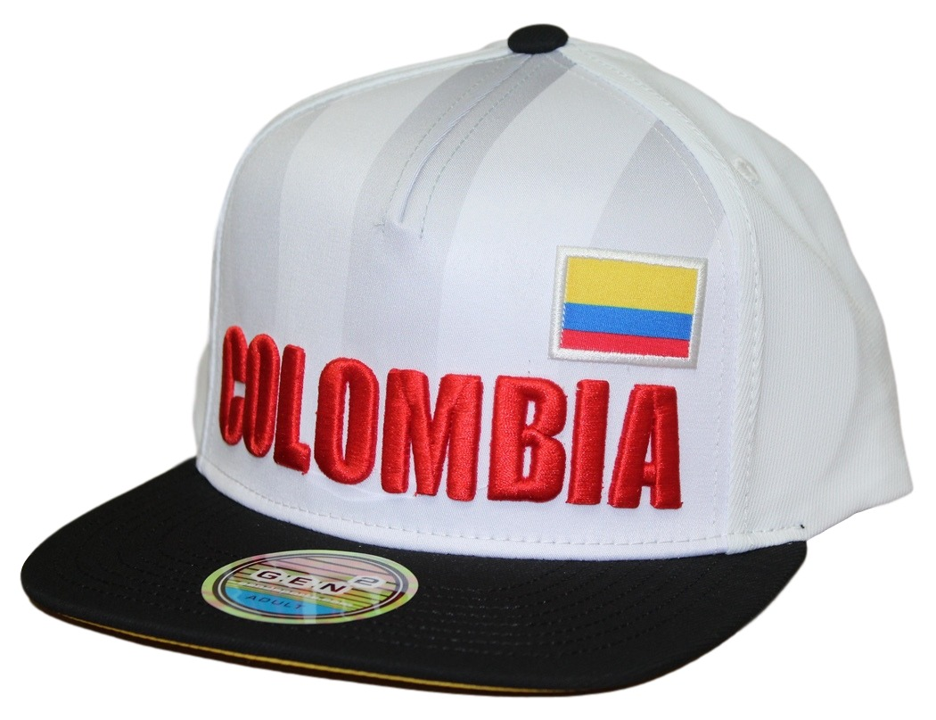 "Team Colombia World Cup Soccer Federation ""Jersey"" Flat Bill Snap Back Hat"