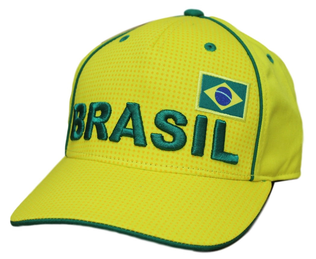 "Team Brazil World Cup Soccer Federation ""Printed"" Structured Adjustable Hat"