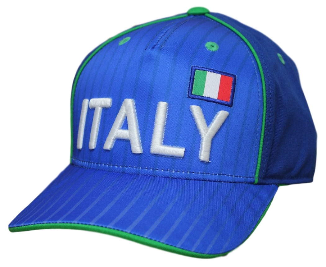 "Team Italy World Cup Soccer Federation ""Printed"" Structured Adjustable Hat"