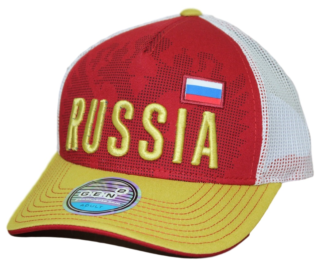 "Team Russia World Cup Soccer Federation ""Jersey Hook"" Structured Mesh Back Hat"