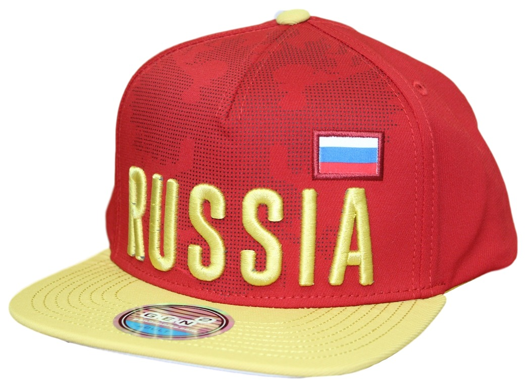 "Team Russia World Cup Soccer Federation ""Jersey"" Flat Bill Snap Back Hat"