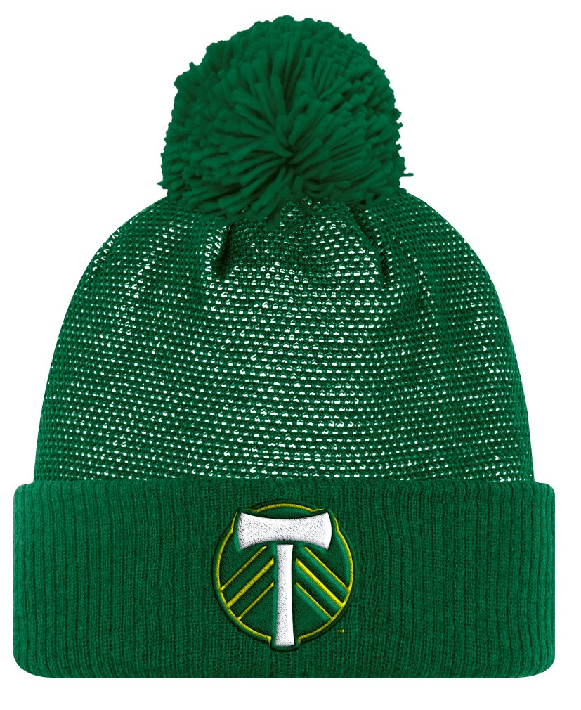 Portland Timbers Adidas MLS 2017 Authentic Cuffed Knit Hat with Pom