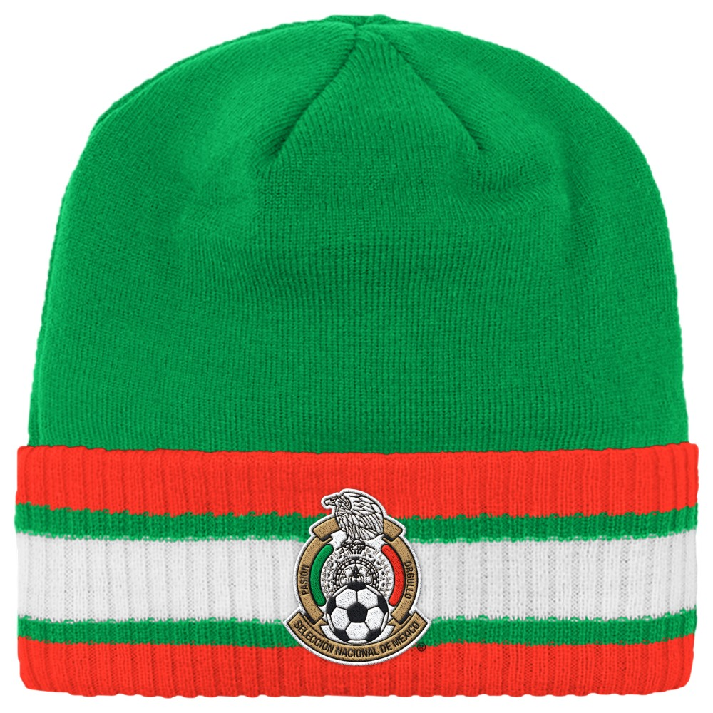 Mexico National Soccer Futbol Team Adidas Striped Cuff Knit Hat
