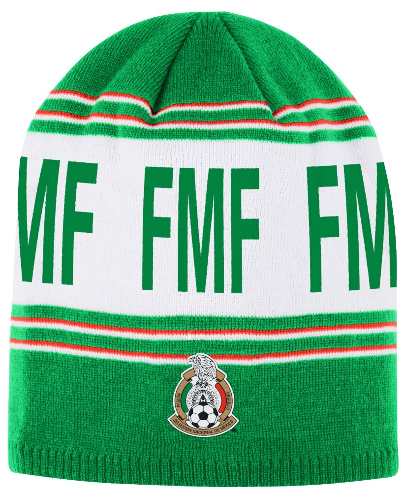 Mexico National Soccer Futbol Team Adidas Striped Cuffless Knit Hat