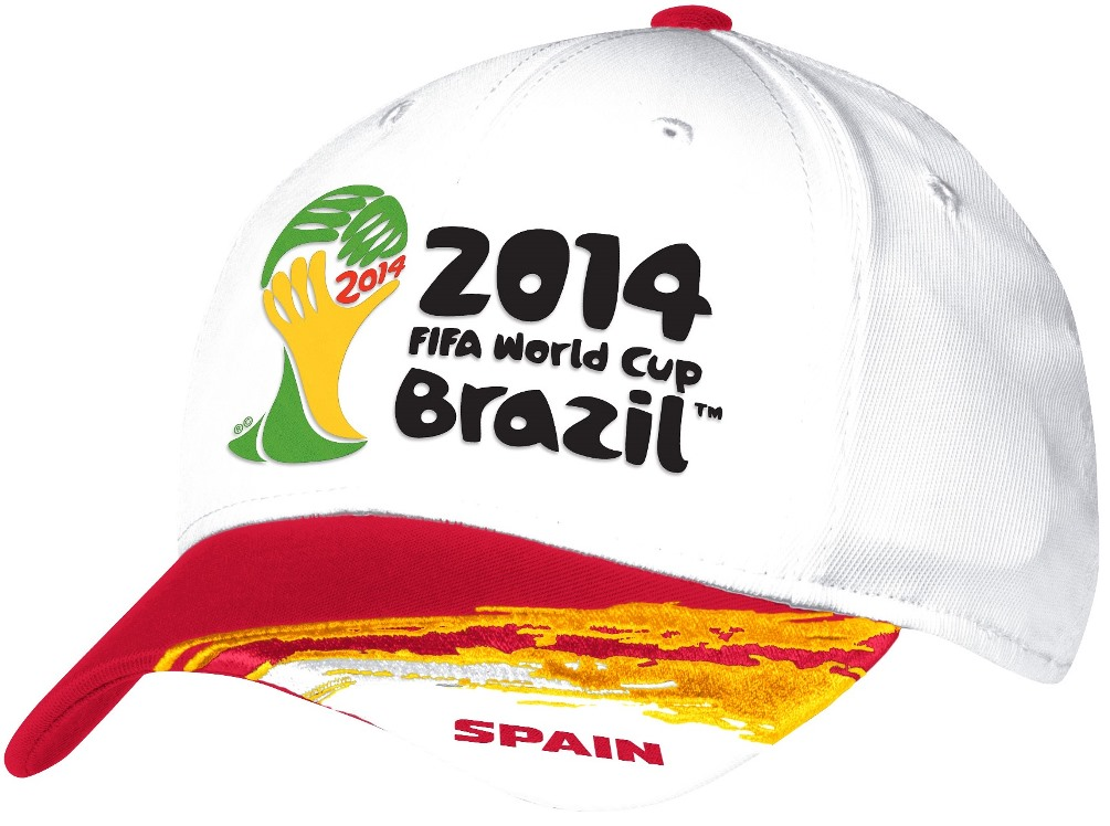 Spain Adidas 2014 FIFA World Cup Structured Flex Hat - White